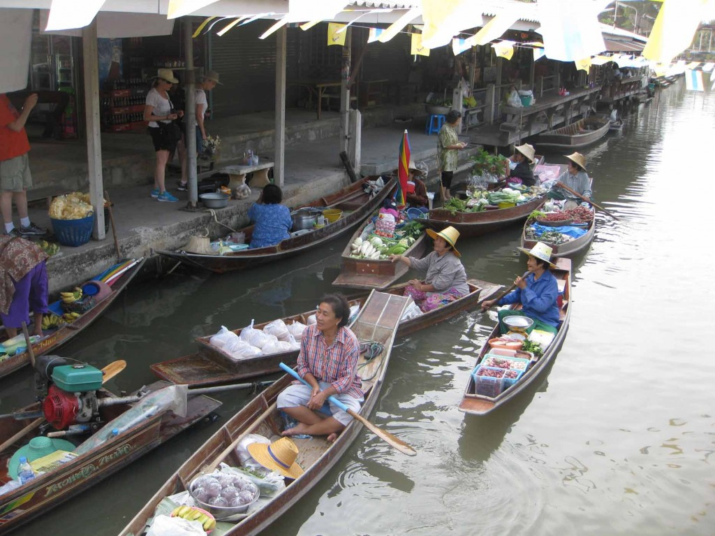 boats selling goods