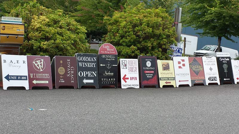 Wine tasting in the Woodinville Warehouse District near Seattle, Washington