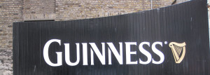 Guinness factory gate in Dublin, Ireland