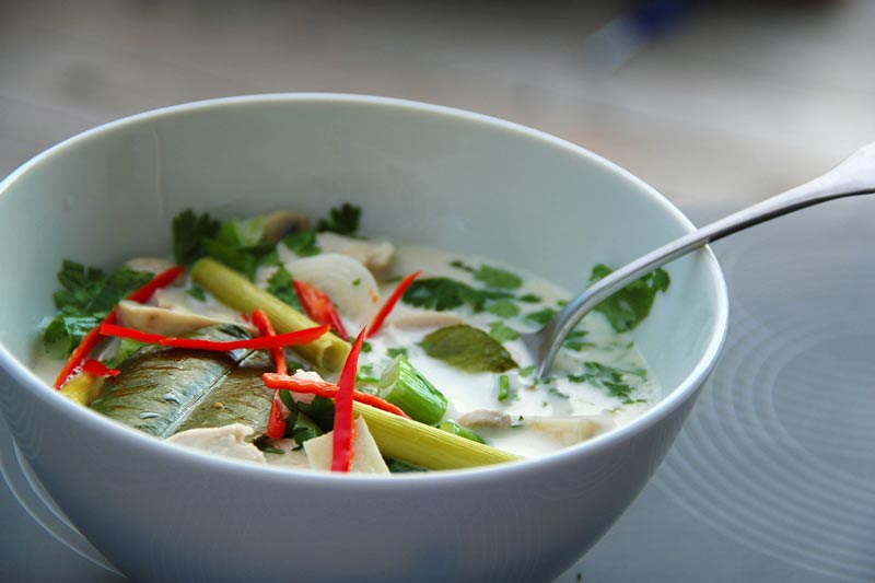 Deliciously aromatic Tom Kha Gai