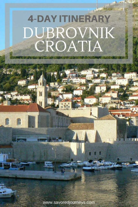 A 4-day itinerary for Dubrovnik Croatia