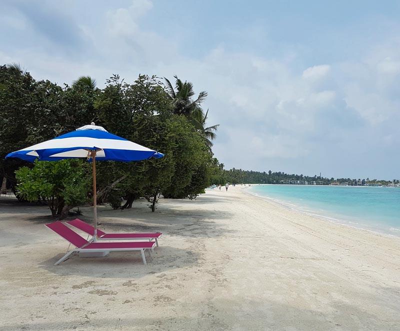 The beautiful Kandima beach