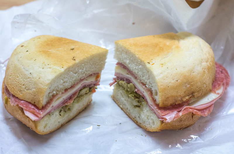 muffaletta sandwich from Central Grocery Co.