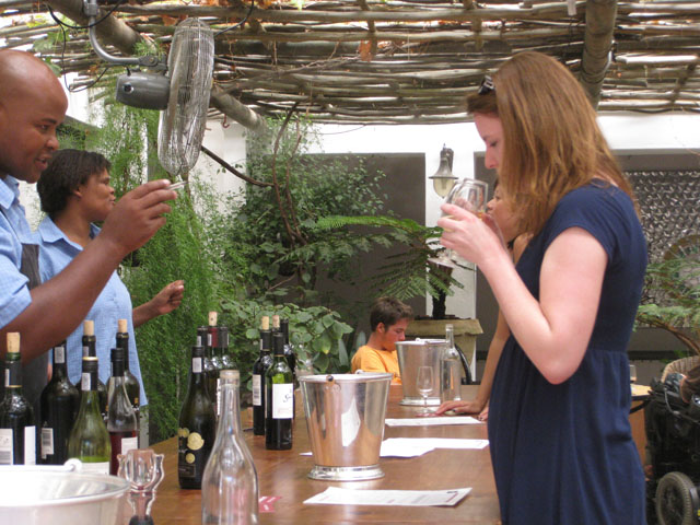 Wine tasting at Spier