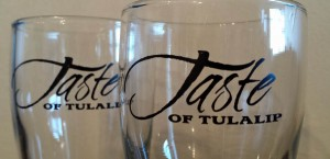 Taste of Tulalip tasting glasses
