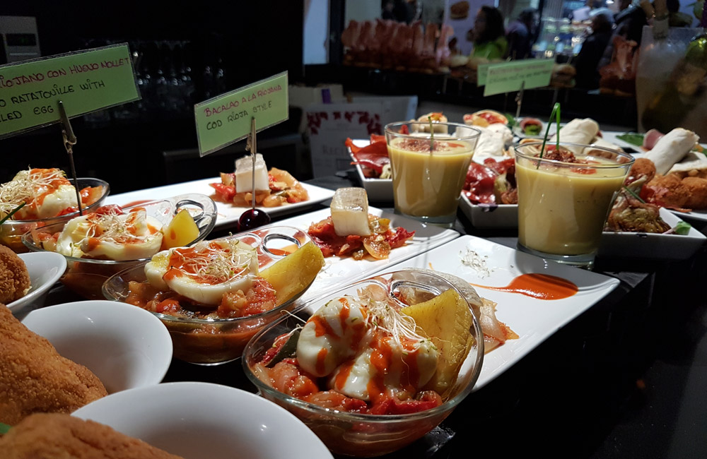 The vast array of pinchos you can order
