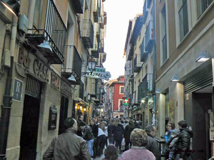 Calle Laurel in Logrono, the pinchos capitol of Rioja
