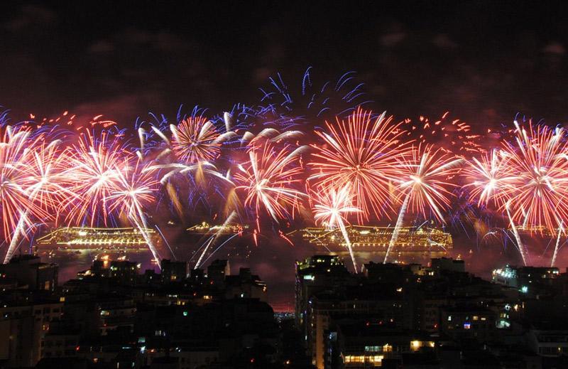 Copacabana Beach on New Year's Eve