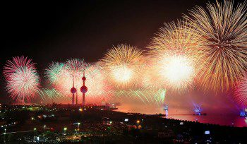 Fireworks over Kuwait