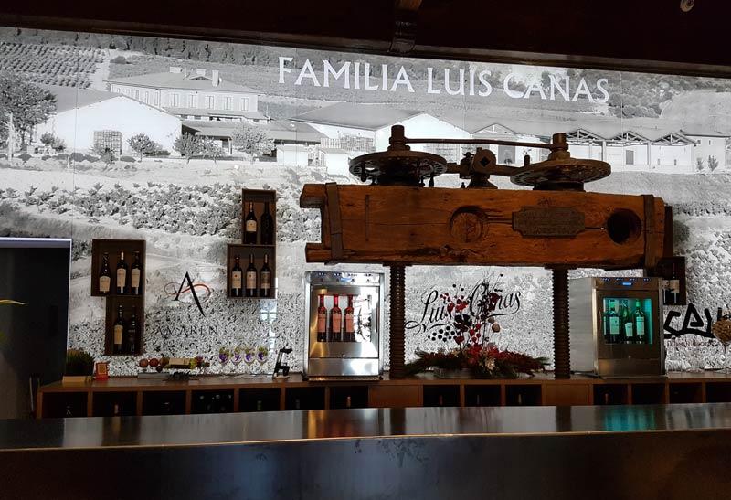 Familia Luis Canas tasting room