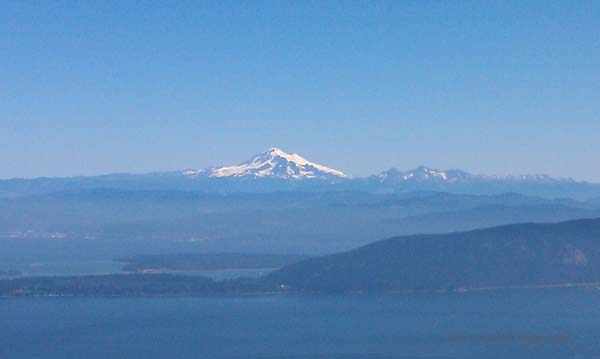 San Juan Islands and Mt. Baker