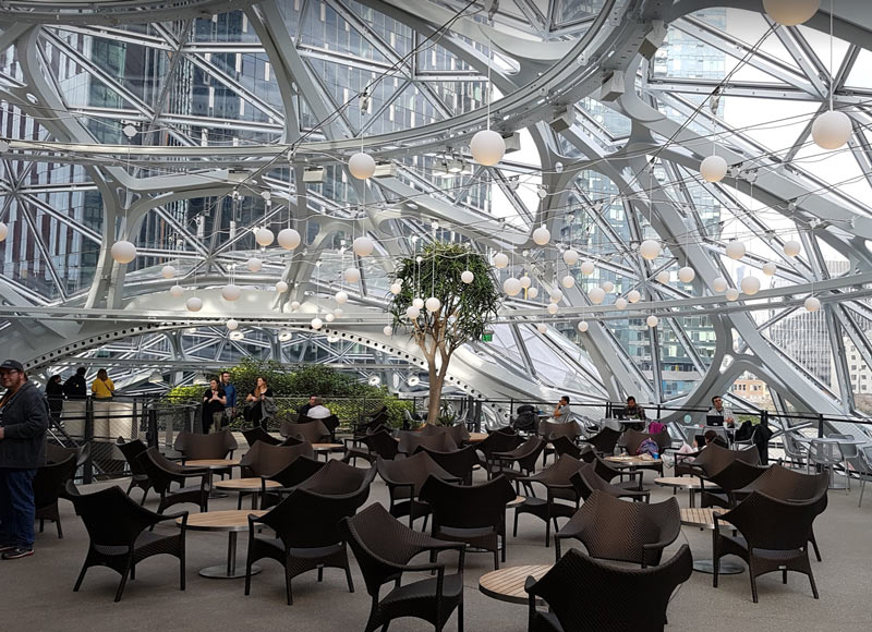 Amazon Spheres Inside