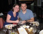 Nick & Laura at a wine & food pairing in Buenos Aires, Argentina in 2012