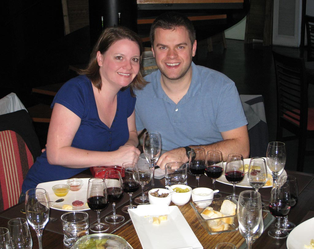 Nick & Laura Lynch at a wine & food pairing in Buenos Aires, Argentina