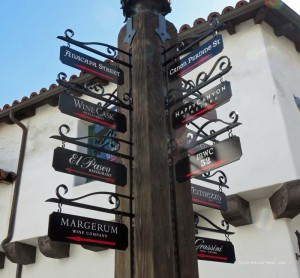 Collection of tasting rooms at El Paseo in Santa Barbara