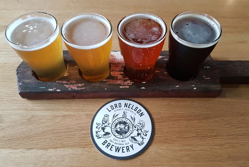 Lord Nelson Brewery tasting tray