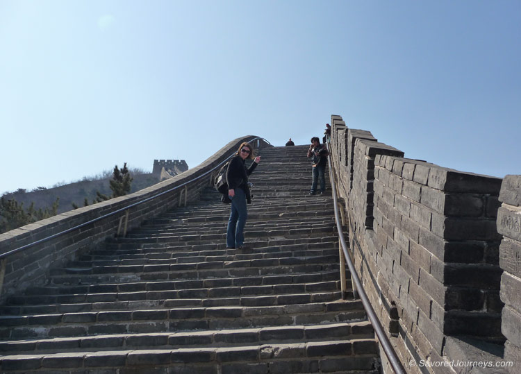 Endless stairs on the south part of the wall