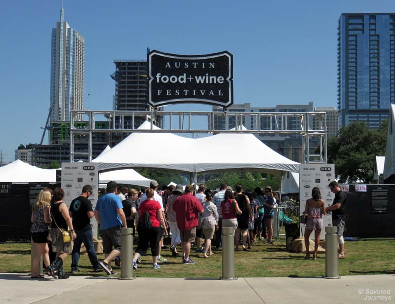 Austin Food & Wine Festival entrance