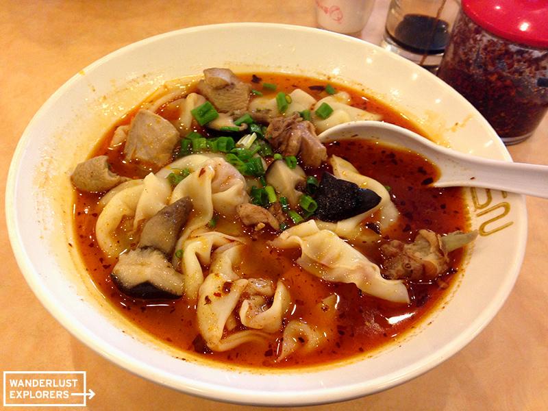 Sichuan Dumpling Soup