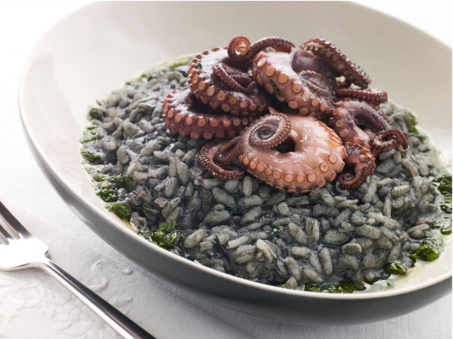 Calamari and Cuttlefish Risotto from Croatia