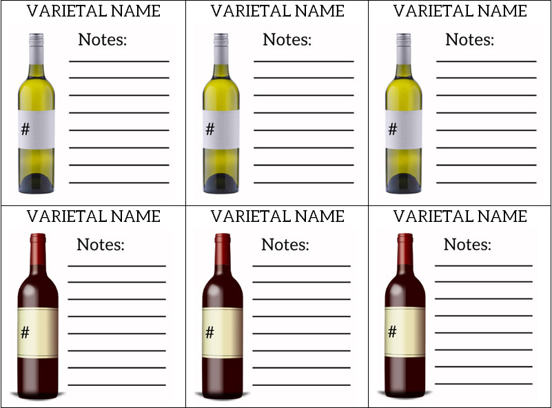 How to host a blind wine tasting party savored journeys for Wine tasting sheet template