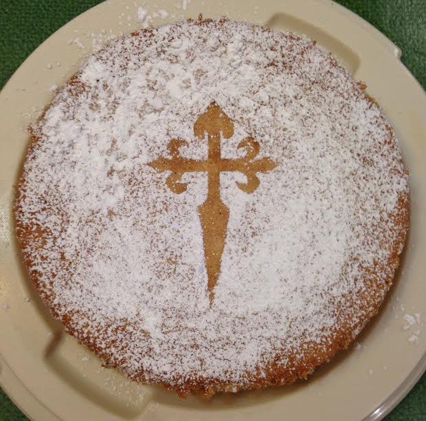 Tarta de Almendra, exclusively found in northwestern Spain in the Galician territory
