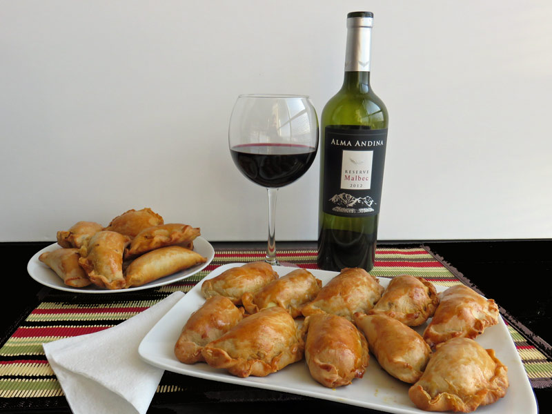 Since these Argentinean Empanadas are so easy to make, you can make up a whole batch of them to share.