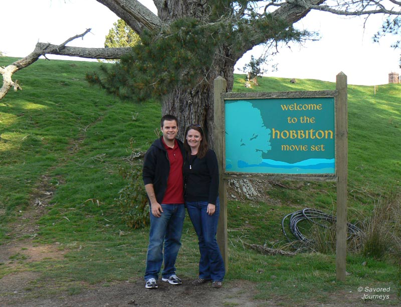 Visiting Hobbiton in New Zealand
