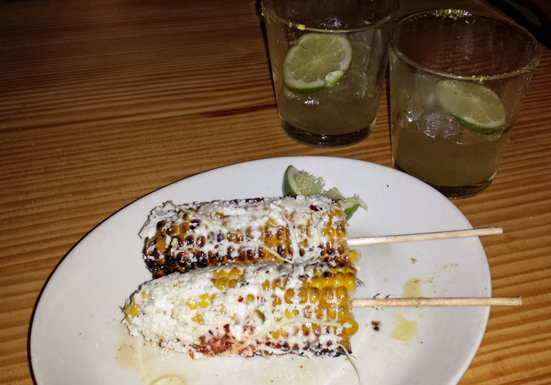 Elotes (Mexican street corn) from La Condesa