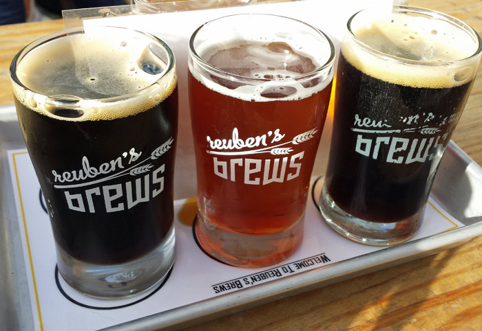 Reuben's Brews just relocated to a larger tasting room with outdoor seating!