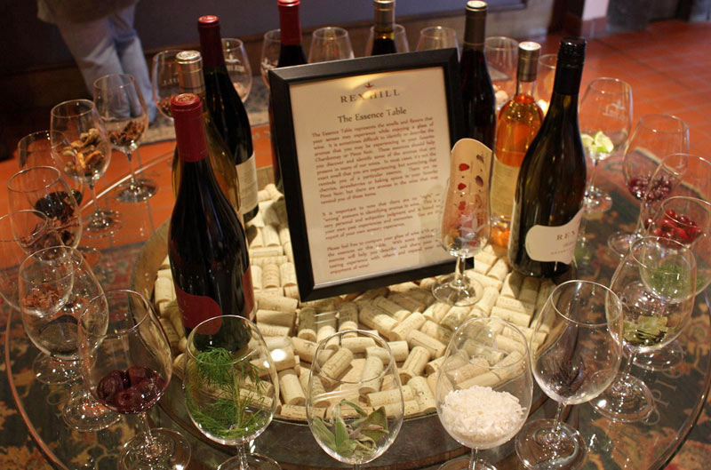 Rex Hill Winery's Sensory Table