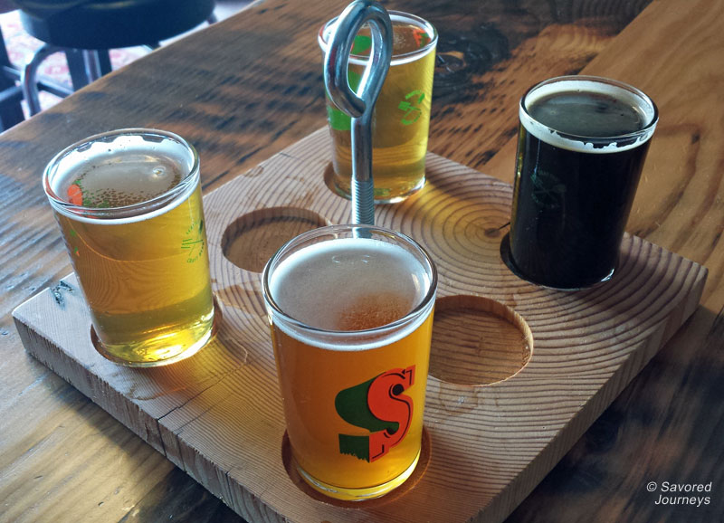 Seapine Brewing Company's taster tray