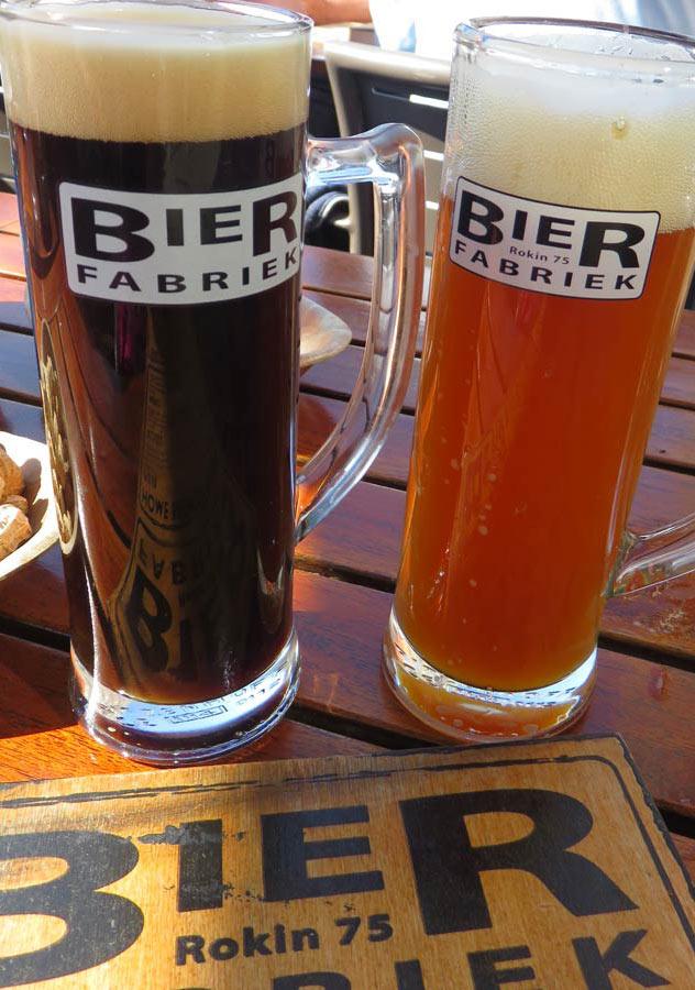 Beer Fabriek's two in-house brewed beers