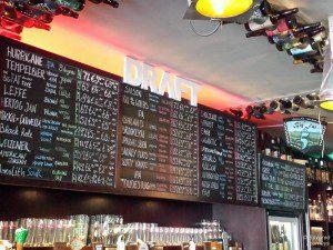 BeerTemple's extensive draft beer selection