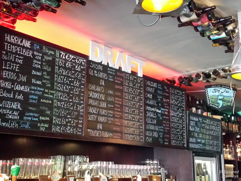 BeerTemple's extensive draft beer selection