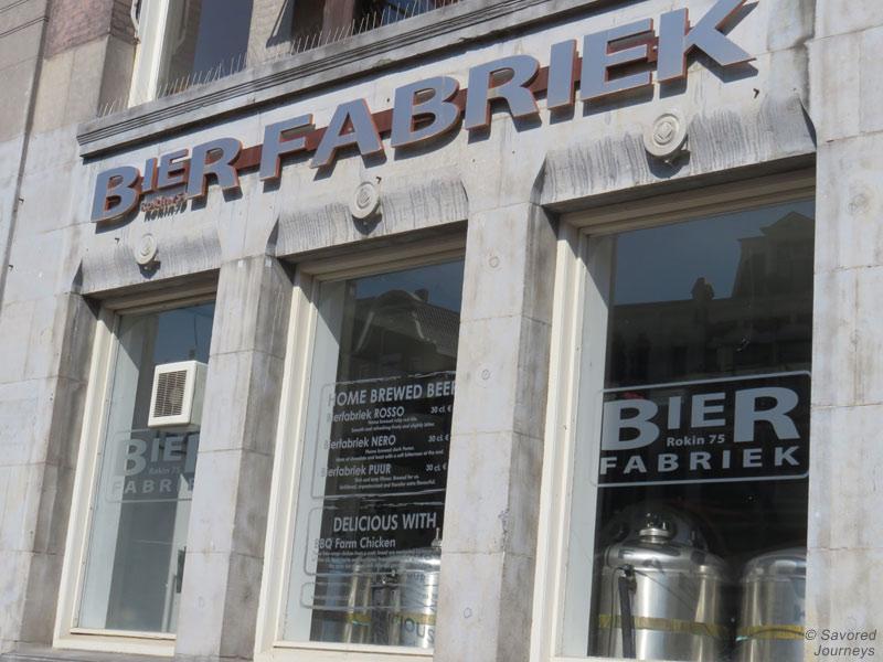 Outside at Bier Fabriek