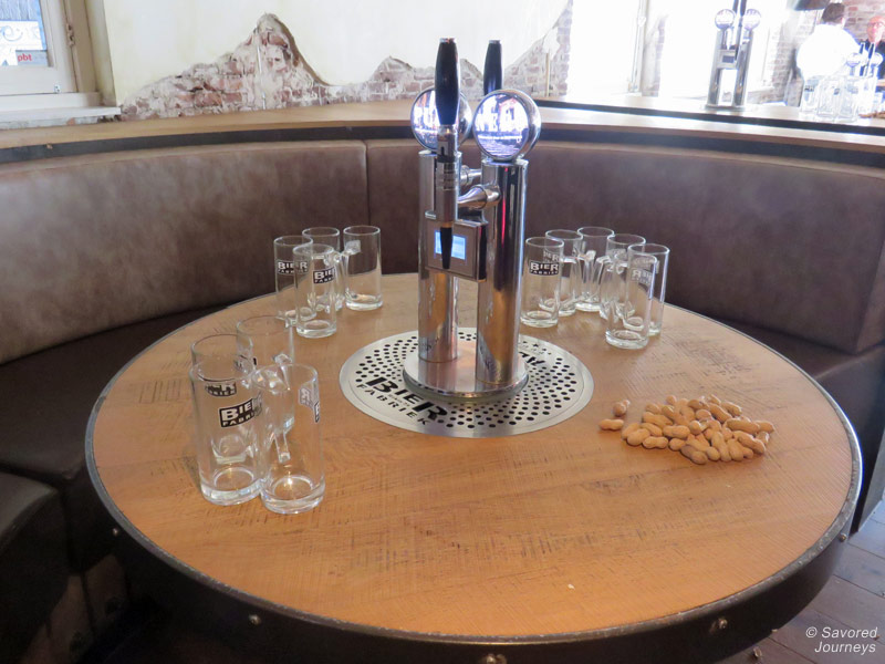 Bier Fabriek's awesome table tap system