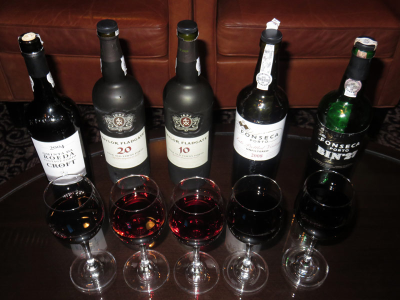 One evening we did a port tasting at Cellar Masters, only included in the premium package