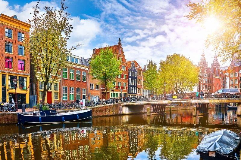 Amsterdam waterway and buildings