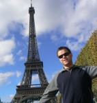 Nick at the Eiffel Tower in Paris