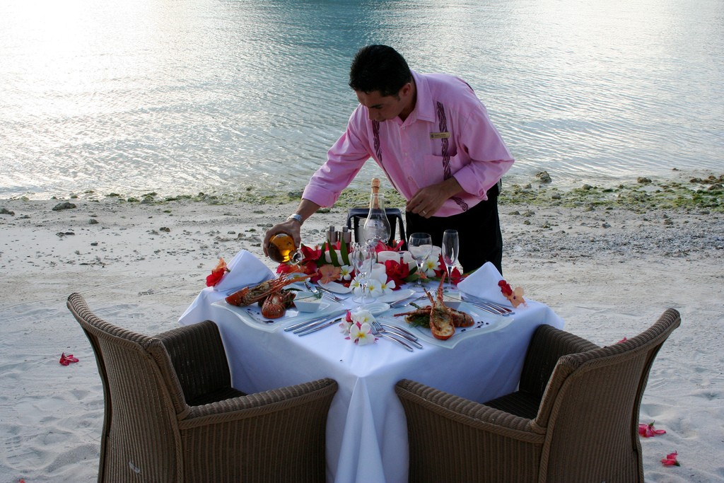 Having dinner on the beach is one of the most popular things to do in Bora Bora