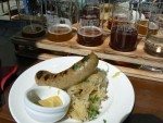 Brygerri beer with brats and sauerkraut