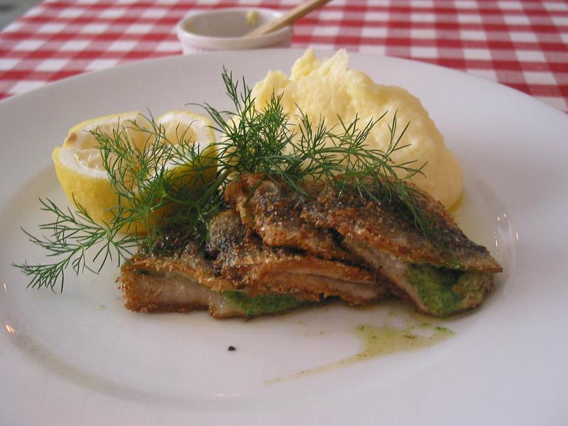 Crispy fried Baltic herring