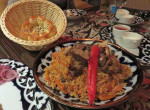 Plov, a rice and lamb dish