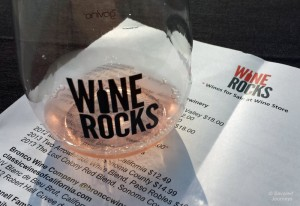 Drinking Rose at Wine Rocks Seattle