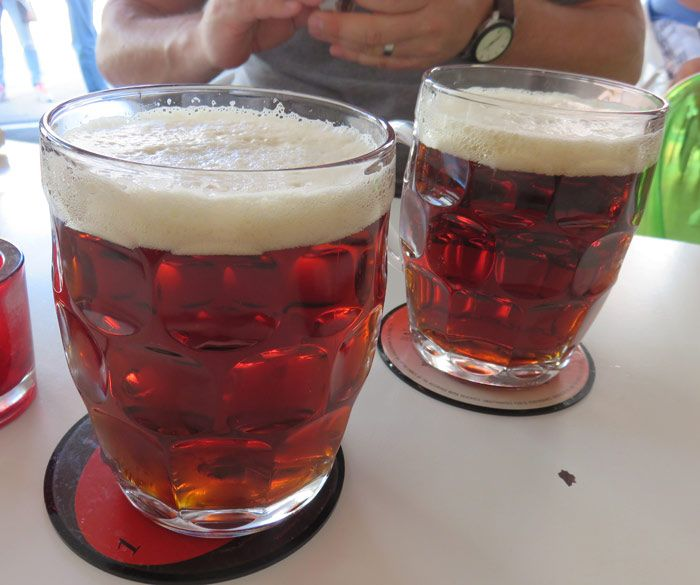 Drinking beer in Fredericia, Denmark, is a favored pastime.