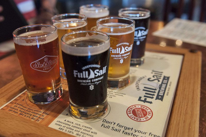 Full Sail Brew Pub tasting sampler