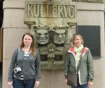 Cute statues in Helsinki made us laugh