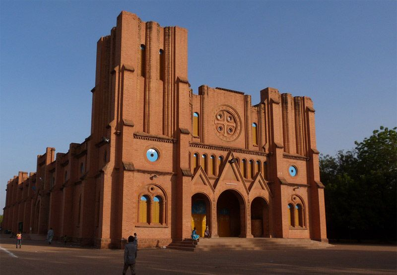 Cathedral of the Immaculate Conception in Ouagadougou, Burkina Faso