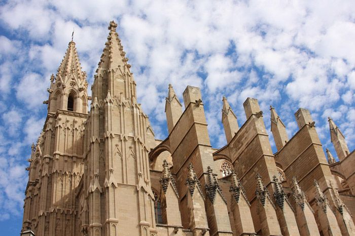 Palma Cathedral in Mallorca, Spain